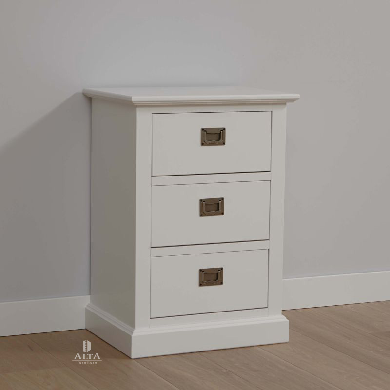 Ladenkastje White Wash.Alta Ladenkast Met 3 Laden Alta Furniture