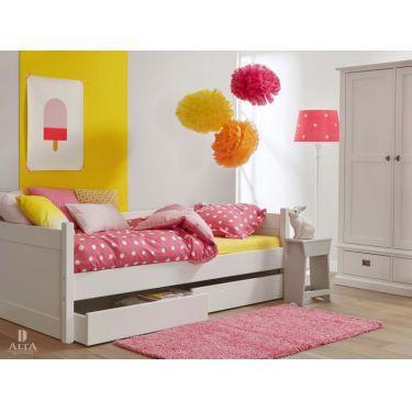 Alta Divano-letto chiuso con due grandi cassetti