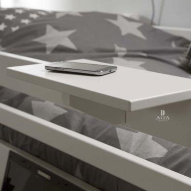 Alta Scaffale per letto, 40x20 cm