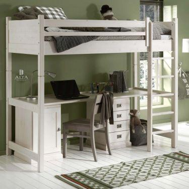 Alta Hochbett mit Schreibtisch, teilbar