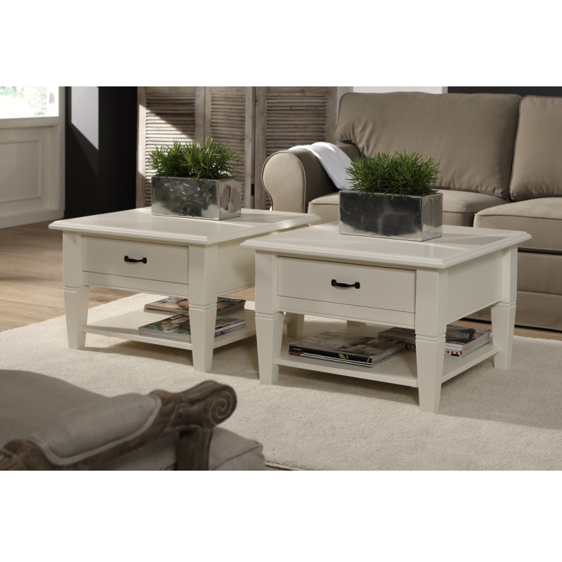 Salontafel Vierkant Wit Met Lade.Salontafel Alta Met 1 Lade 70x70 Cm Alta Furniture