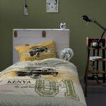 Damai dekbedovertrek Kenia khaki, 140x220 cm