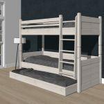 Alta Etagenbett mit Matratzenschublade, teilbar