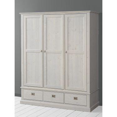 Alta Kleiderschrank, 3 Türen, 3 Schubladen