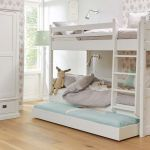 Stapelbed ALTA met jump-up bed, Snow white