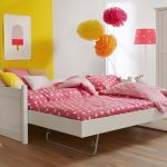 Bedbank ALTA dicht met jump-up bed, Snow white