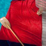 Seahorse strandlaken Cruise red, 100x180 cm