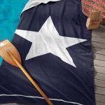 Seahorse strandlaken Star marine, 100x180 cm