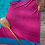 Seahorse strandlaken Cruise fuchsia, 100x180 cm