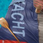 Seahorse strandlaken Yacht navy, 100x180 cm