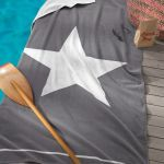 Seahorse strandlaken Star grey, 100x180 cm