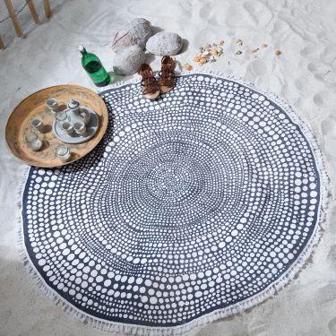 Seahorse roundie Nodo anthracite, 150 cm