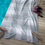 Seahorse strandlaken Playa grey, 100x180 cm