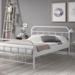 Metalen bed Boston, wit, 140x200 cm
