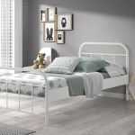 Metalen bed Boston, wit, 90x200 cm