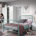 Metalen bed New York, mint, 120x200 cm