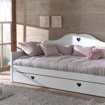 Bedbank Amori met matraslade, wit