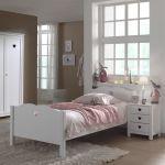 Bed Amori, wit, 90x200 cm