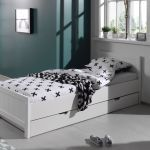 Bed Erik met matraslade, wit
