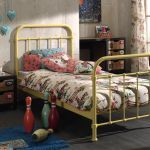 Metalen bed New York, geel, 90x200 cm