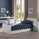Bed Robin met matraslade, wit