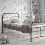 Metalen bed Boston, brons, 90x200 cm