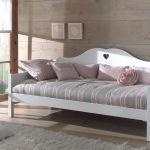 Bedbank Amori, wit, 90x200 cm