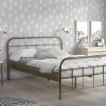 Metalen bed Boston, brons, 140x200 cm