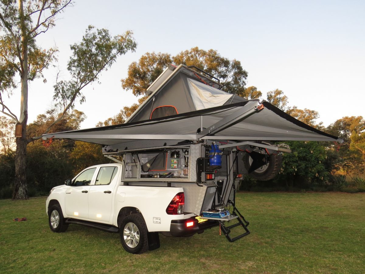 Toyota Double Cab Bush Camper met luifel