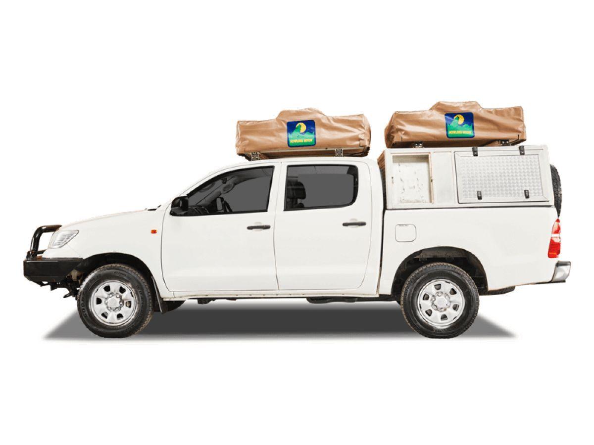 Toyota Double Cab 4x4 met twee daktenten