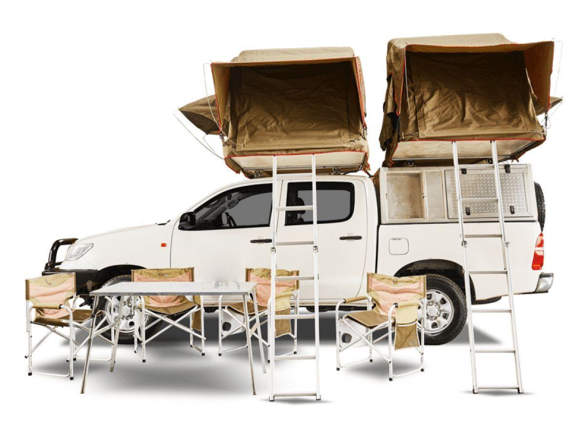 Toyota Double Cab 4x4 met daktenten
