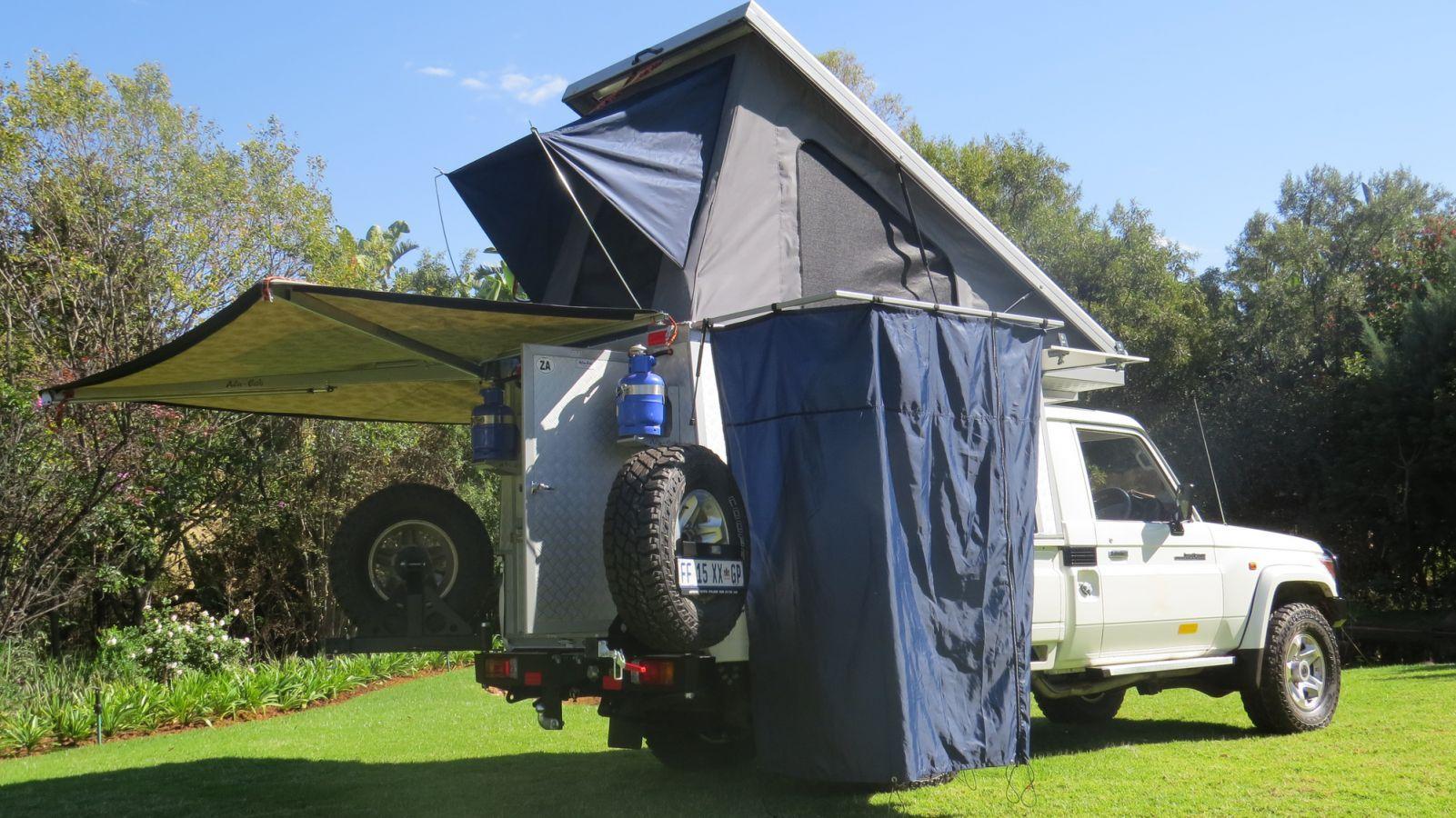 Toyota Landcruiser Bush Camper met douche
