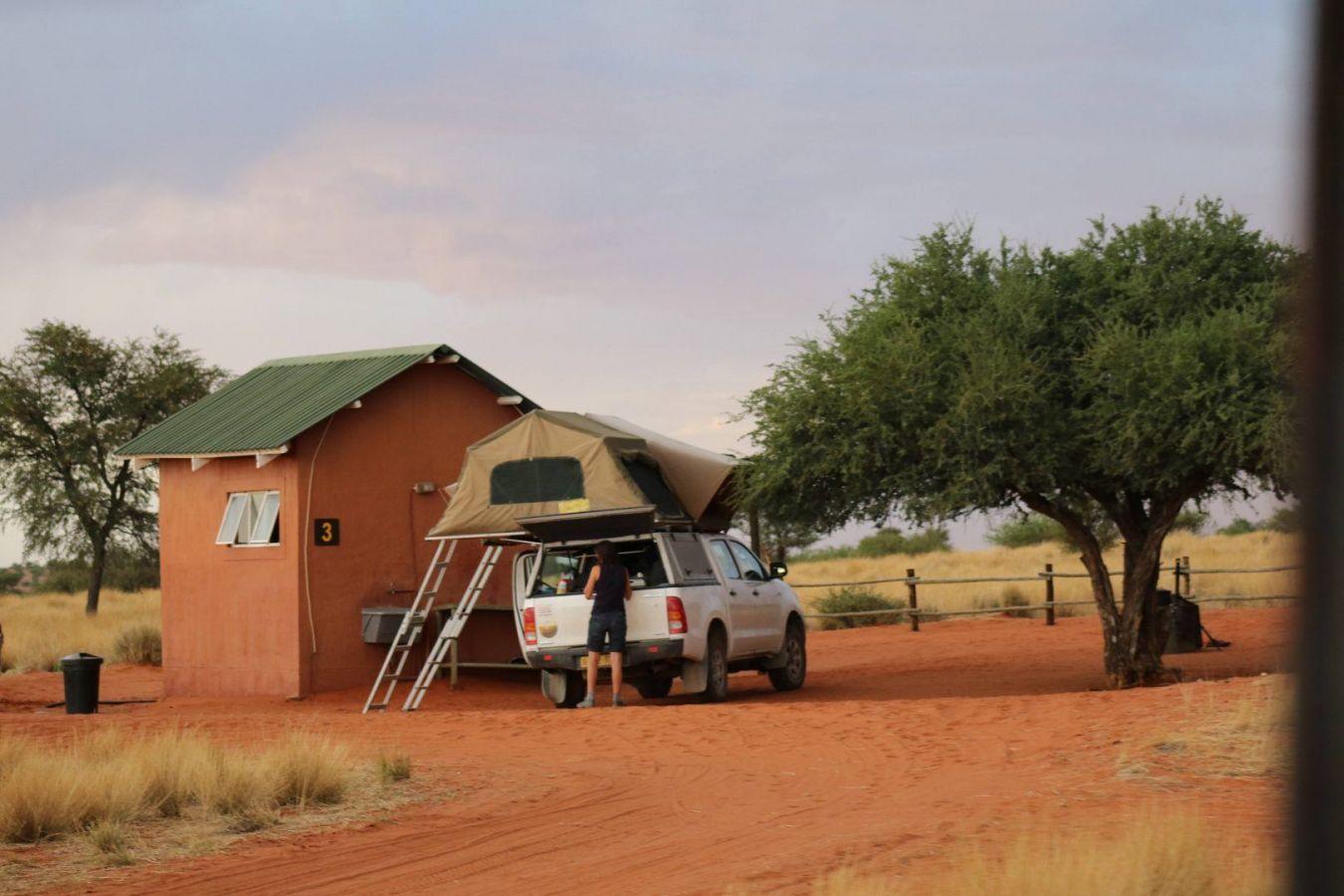 Daktent bij Bagatelle game ranch