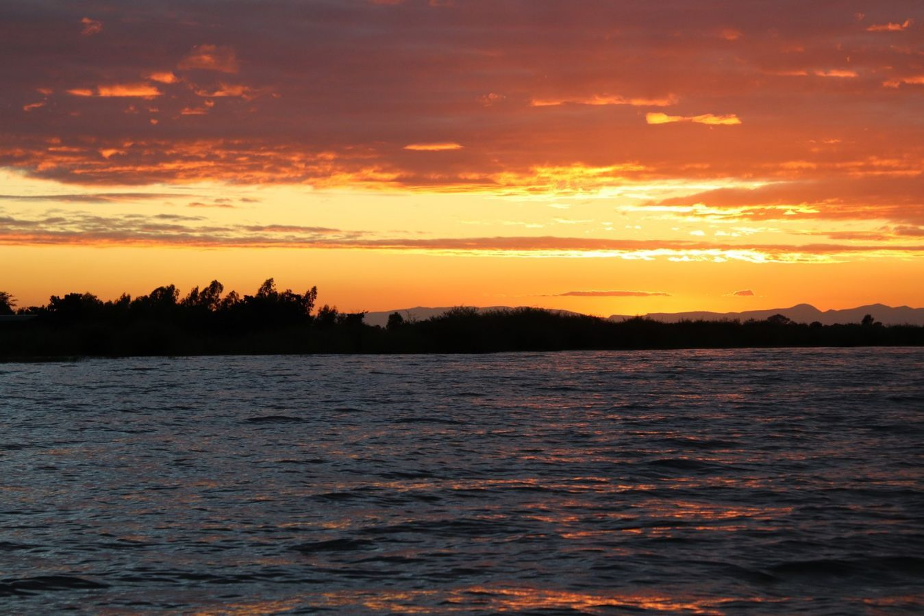 Lake Malawi zonsondergang