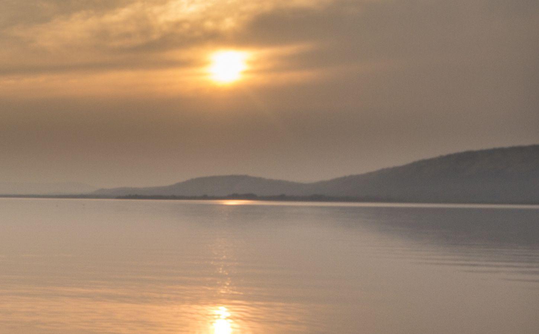 Lake Mburo National Park zonsondergang