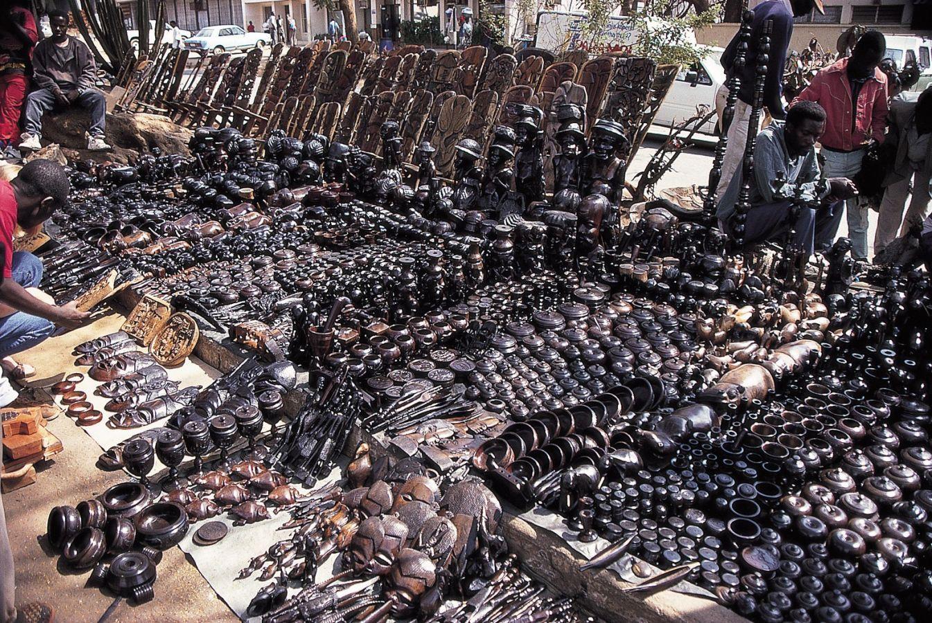 Lilongwe markt houtsnijwerk