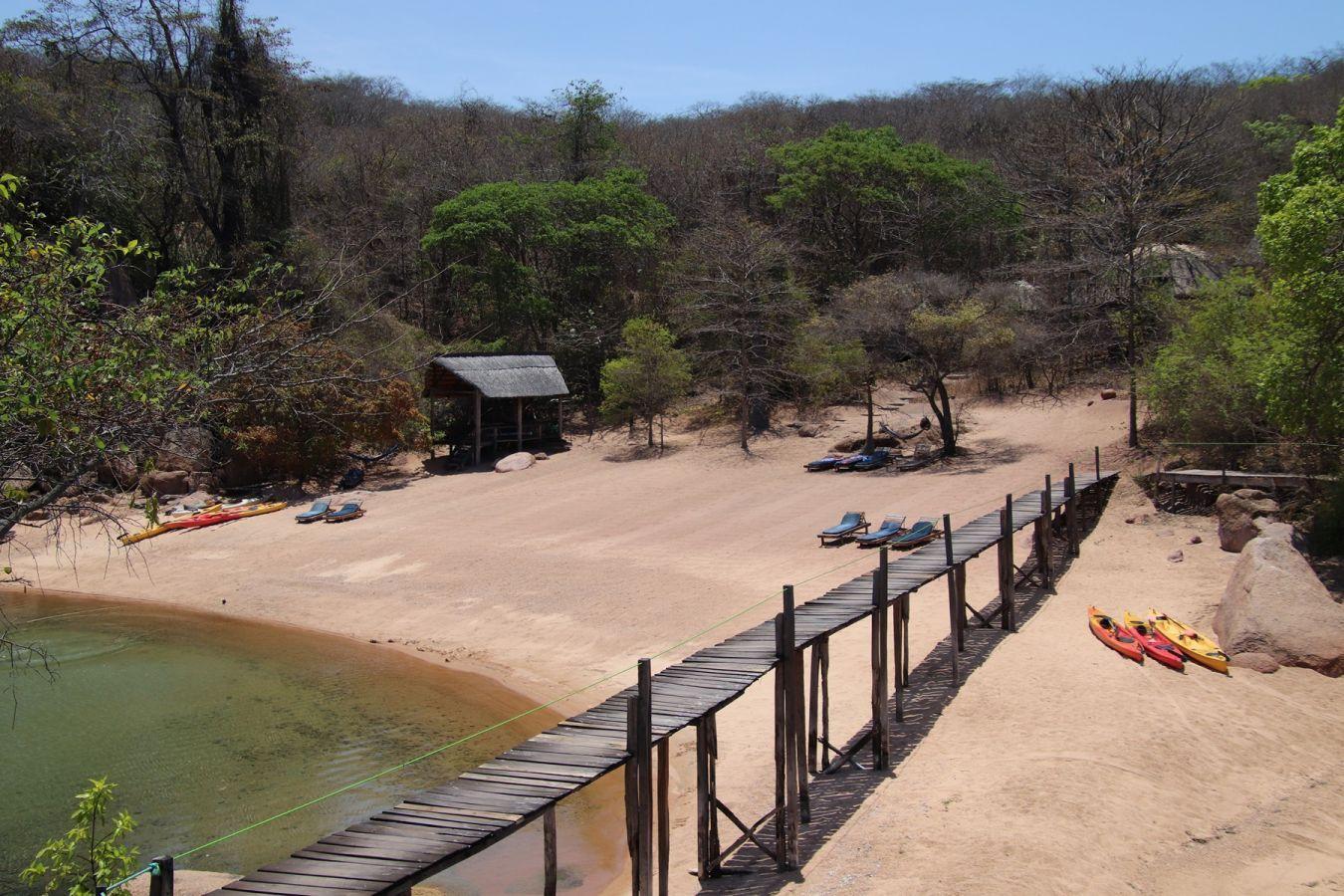 Mumbo Island Camp strand