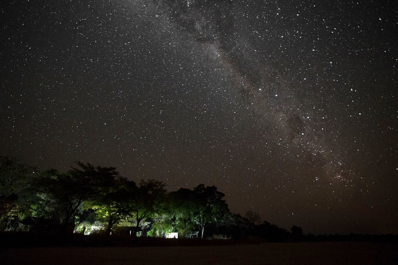 Nkonzi Camp sterrenhemel met Melkweg