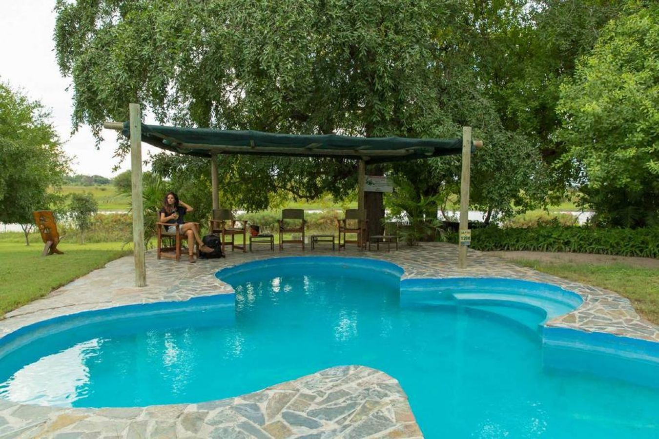 Thamalakane River Lodge zwembad