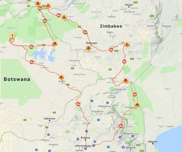 Groepsreis Zuid-Afrika, Zimbabwe & Botswana