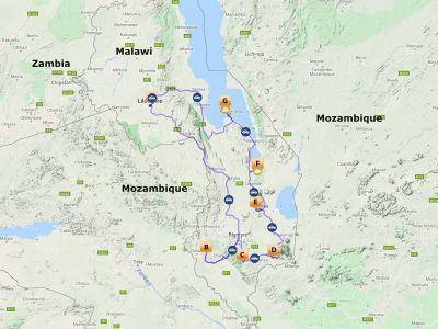 Self drive Malawi Zuid