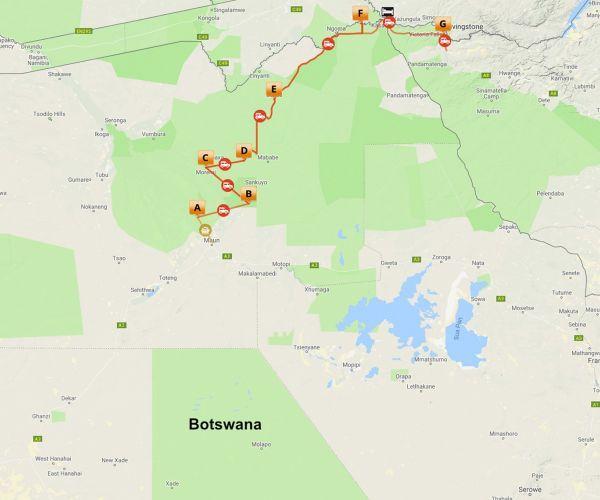 Groeps kampeersafari Botswana Highlights