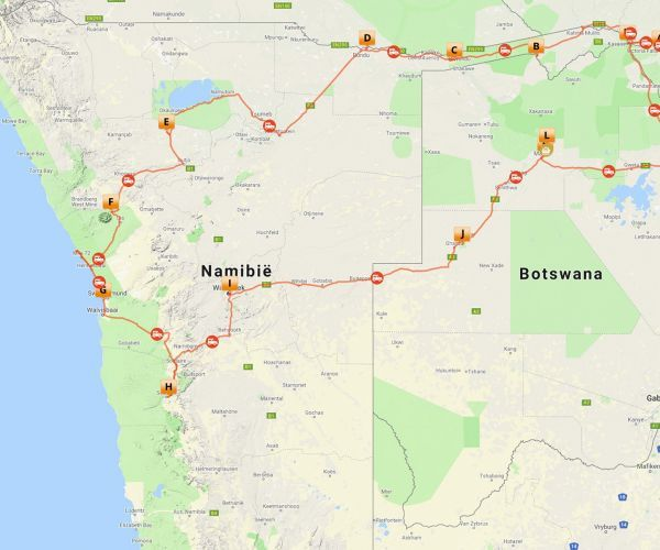 Groepsreis Namibië, Botswana & Victoria Falls