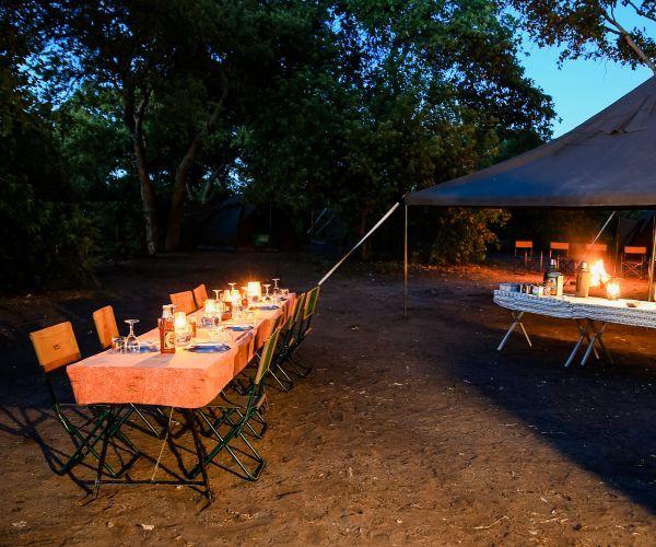 Luxe groeps kampeersafari Botswana