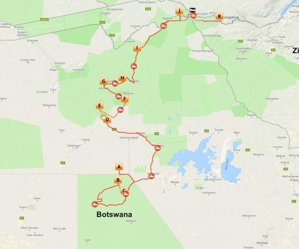 Groeps kampeersafari Botswana Compleet
