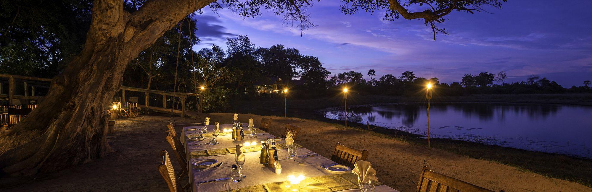 Botswana dineren kaarslicht