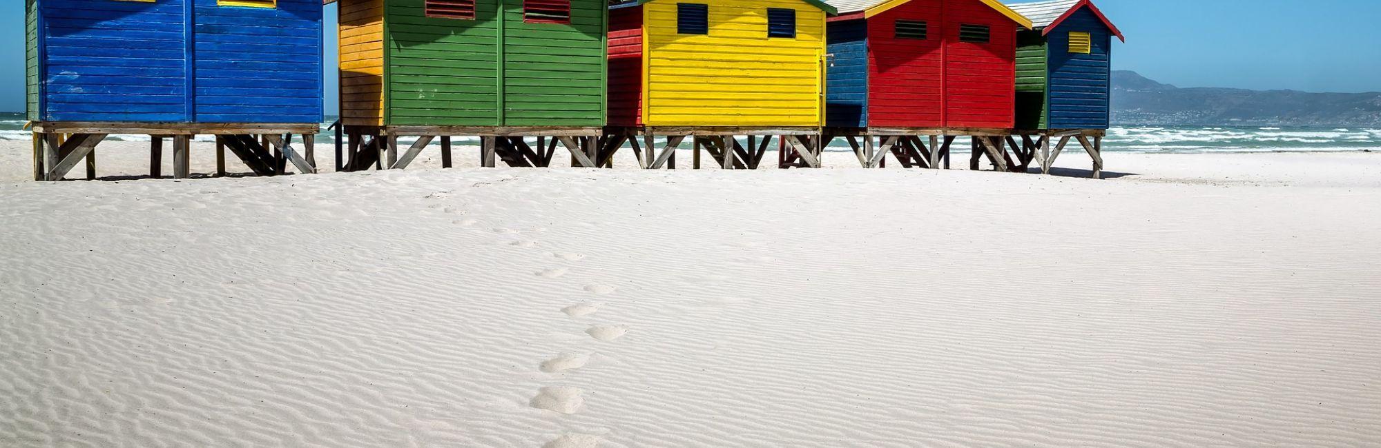 Zuid-Afrika Muizenberg strand
