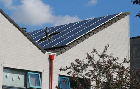 APSystems zonnepanelen met rookgasafvoer schaduw