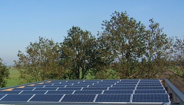 K2 systems zonnepanelen gemonteerd op frame