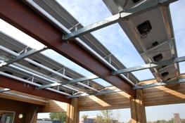 K2 systems zonnepanelen op frame vrijhangend